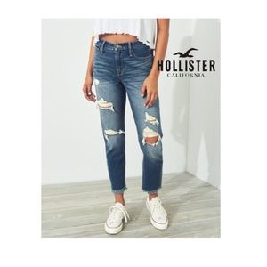 NWT Hollister High Rise Mom Jeans Vintage Stretch